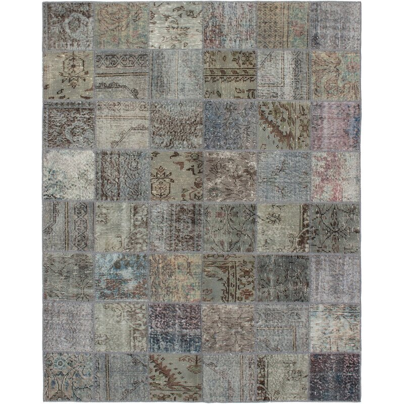 Bloomsbury Market One Of A Kind Orinda Hand Knotted 2010s Light Gray Dark Gray 5 9 X 7 6 Wool Area Rug Wayfair