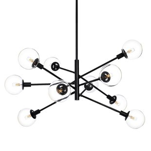 Brayden Studio Cohen Orb 10-Light Sputnik Chandelier