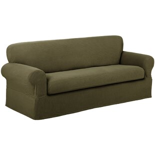 Reeves Stretch Box Cushion Loveseat Slipcover