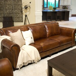 Paladia Leather Sofa by Elements Fine Home F..