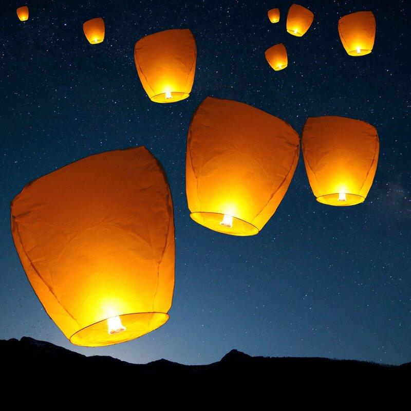 24 Large Yellow Chinese Paper Lanterns Wedding Decorations 12 inch Round