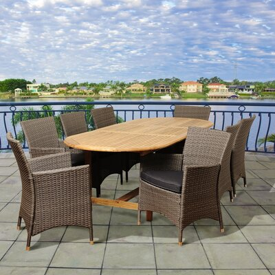 Hillier International Home Outdoor 9 Piece Teak Dining Set With Cushions by Winston Porter No Copoun