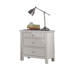 Saylor 3 Drawer Nightstand by Harriet Bee