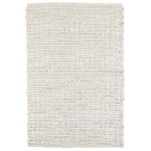 Dunes Bleached Oak Woven Hand-Knotted Ivory Area Rug by Dash and Albert Rugs