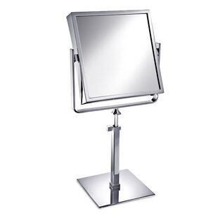 Affordable Square Double Face Pedestal Magnifying Mirror By Windisch by Nameeks