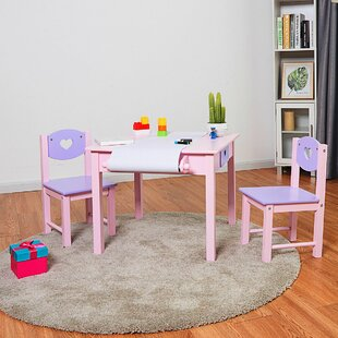 Charlbury Kids 3 Piece Square Table and Chair Set by Harriet Bee