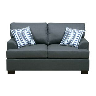 Chamberland Loveseat With 2 Pillows by Ebern Designs Modern