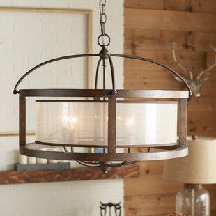 Wood chandeliers youll love wayfair bundoran 5 light drum chandelier aloadofball Images