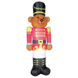 Fuzzy Bear Soldier Inflatable. by The Holiday Aisle