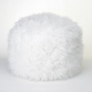 Sallie Fuzzy Pouf Ottoman by Zipcode Design