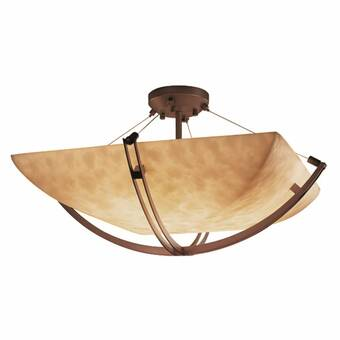 Wrought Studio Frissell 3 Light Simple Bowl Semi Flush Mount Wayfair