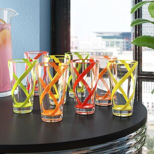 Kruse 8-Piece 22 oz. Acrylic Drinking Glass Set (Set of 8)