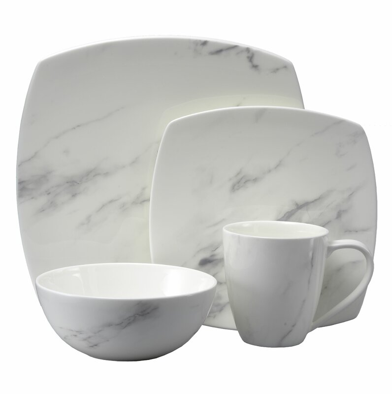 Moda Couture 16 Piece Dinnerware Set Service For 4  sc 1 st  Wayfair : 16 piece dinnerware sets - pezcame.com