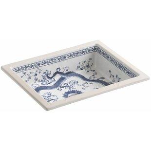 Shop For Imperial Blue design on Kathryn Ceramic Rectangular Undermount Bathroom Sink By Kohler