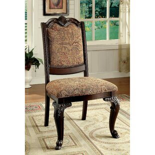 Barwood Traditional Upholstered Side Chair (Set of 2) Astoria Grand