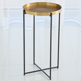 Plaid Etched Tray Table