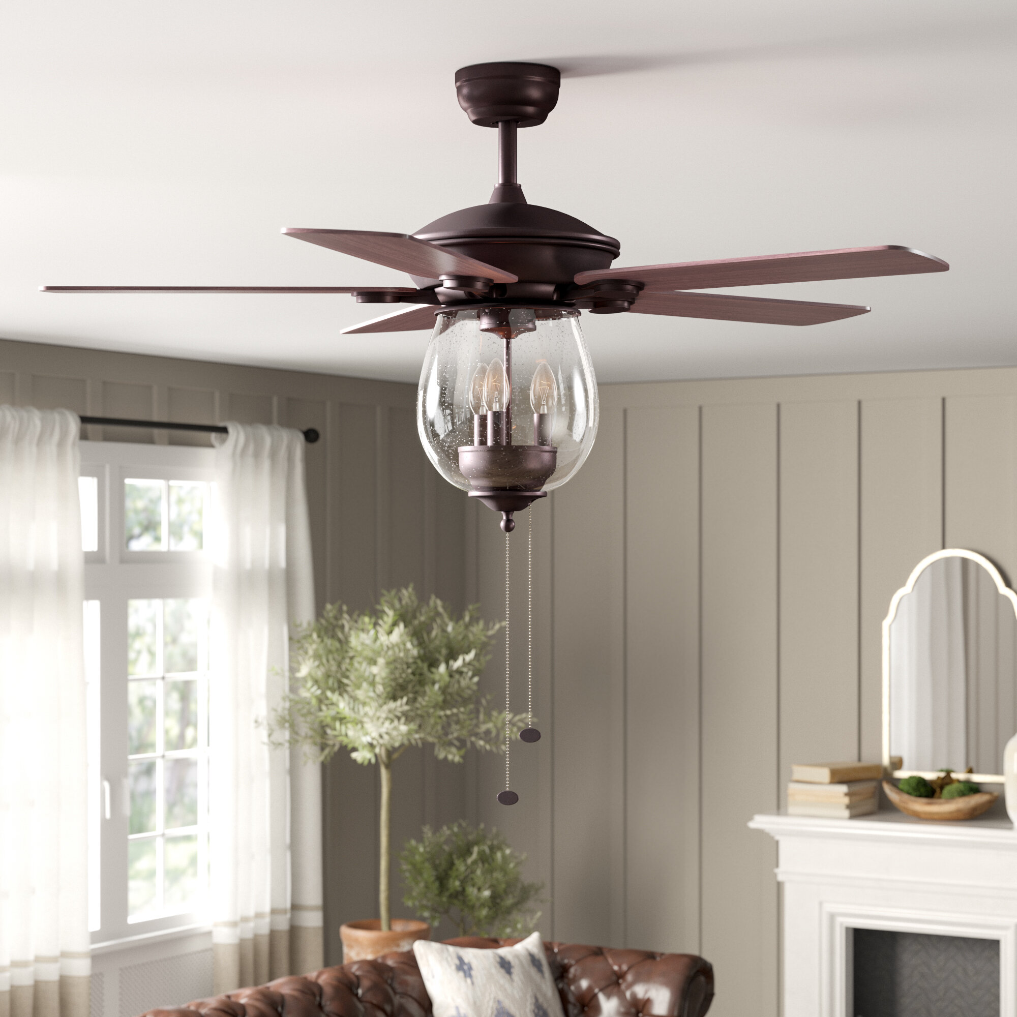 Birch Lane Heritage Rueben 5 Blade Ceiling Fan Light Kit