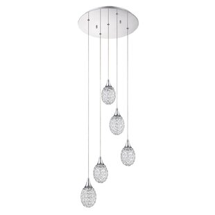 Crys 5-Light Pendant by Kendal Lighting