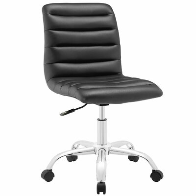 Berends Leather Armless Office Chair