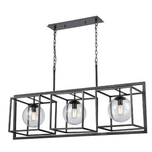 Williston Forge Caudill 3-Light Rectangle Chandelier