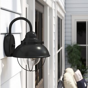 Corbel 1-Light Outdoor Barn Light By Beachcrest Home