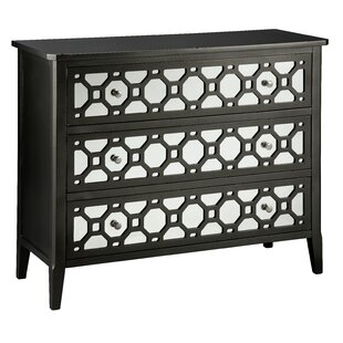 Cosmopolitan Mirror Front Accent 3 Drawer Chest by Stein World