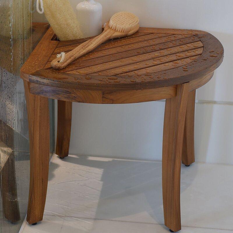 Cambridge Casual Estate Wood Shower Bench & Reviews | Wayfair