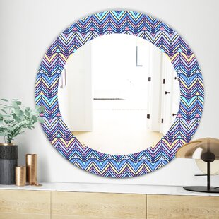 Zig Zag Traditional Wall Mirror