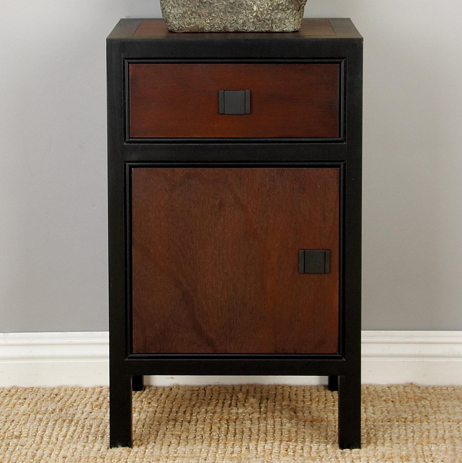 Hiran Wood 1 Drawer Nightstand