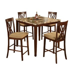 Lewistown Counter Height 5 Piece Dinette Set by Red Barrel Studio