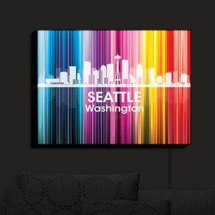 East Urban Home City II Seattle Washington' Print on Fabric