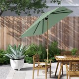 Solid 6.5 x 10 Rectangular Market Umbrella