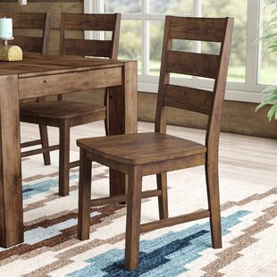 Maci Solid Wood Dining Chair (Set of 2) Mistana
