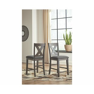 Cavallaro Counter Height 24.75 Bar Stool (Set of 2) Gracie Oaks