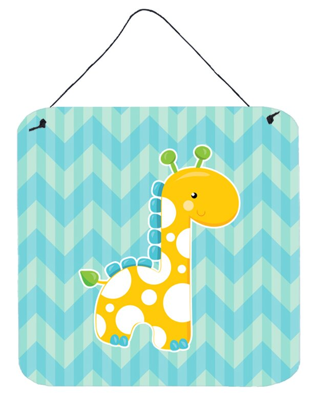Boy Giraffe Contemporary Wall Décor