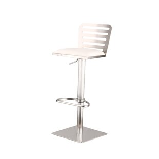 Delmar Adjustable Height Swivel Bar Stool