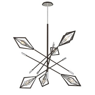 Brayden Studio Angulo 6-Light Sputnik Chandelier