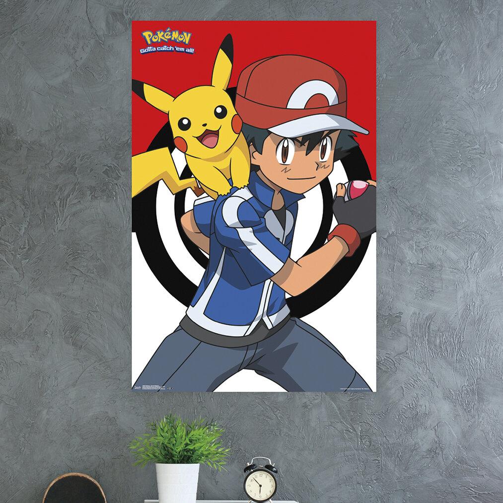 Pikachu Pokemon Type 1 Wall Decor Watercolor Poster Baby Shower Gift UNFRAMED