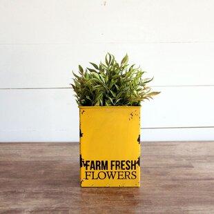 Check Prices Farm Fresh Flower Tin Bin ByForeside Home & Garden