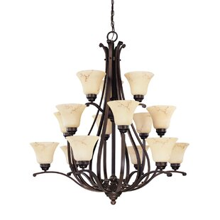 Fleur De Lis Living Neva 12-Light Shaded Chandelier