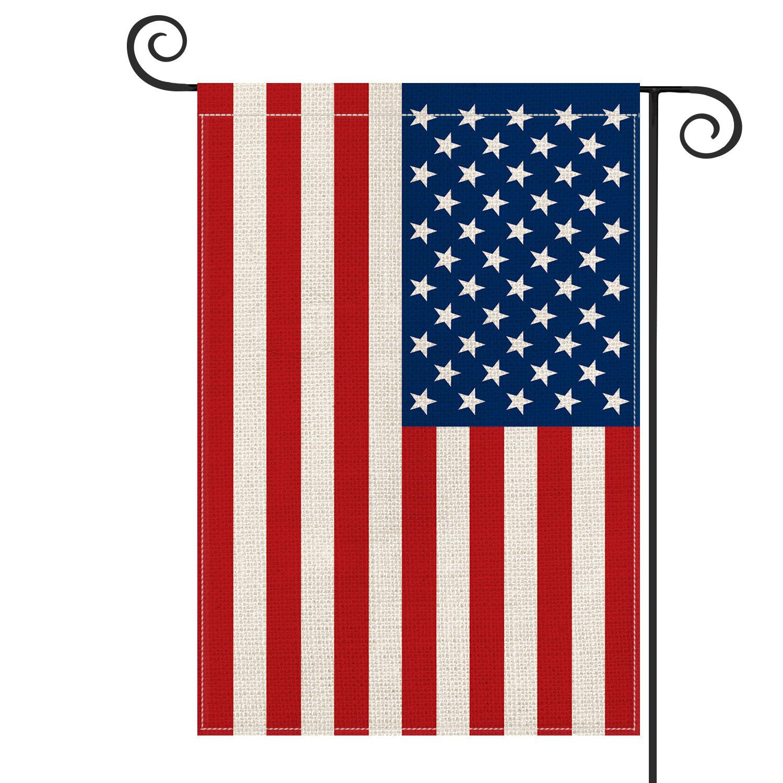Avoin Colorlife American Flag 2 Sided Burlap 18 X 13 In Garden Flag Wayfair