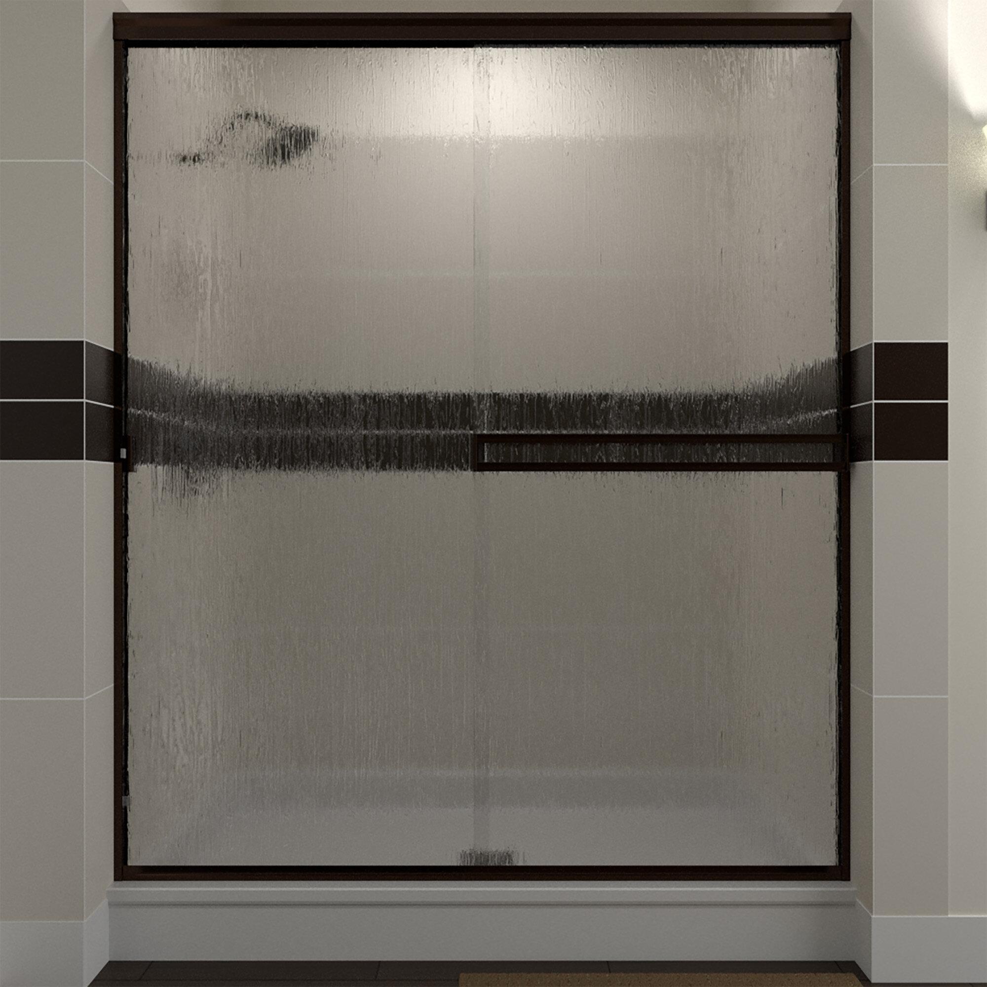 56 X 70 Bypass Semi Frameless Shower Door