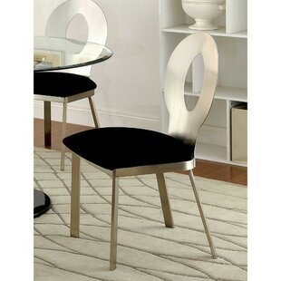 Rush Upholstered Dining Chair (Set of 2) Orren Ellis