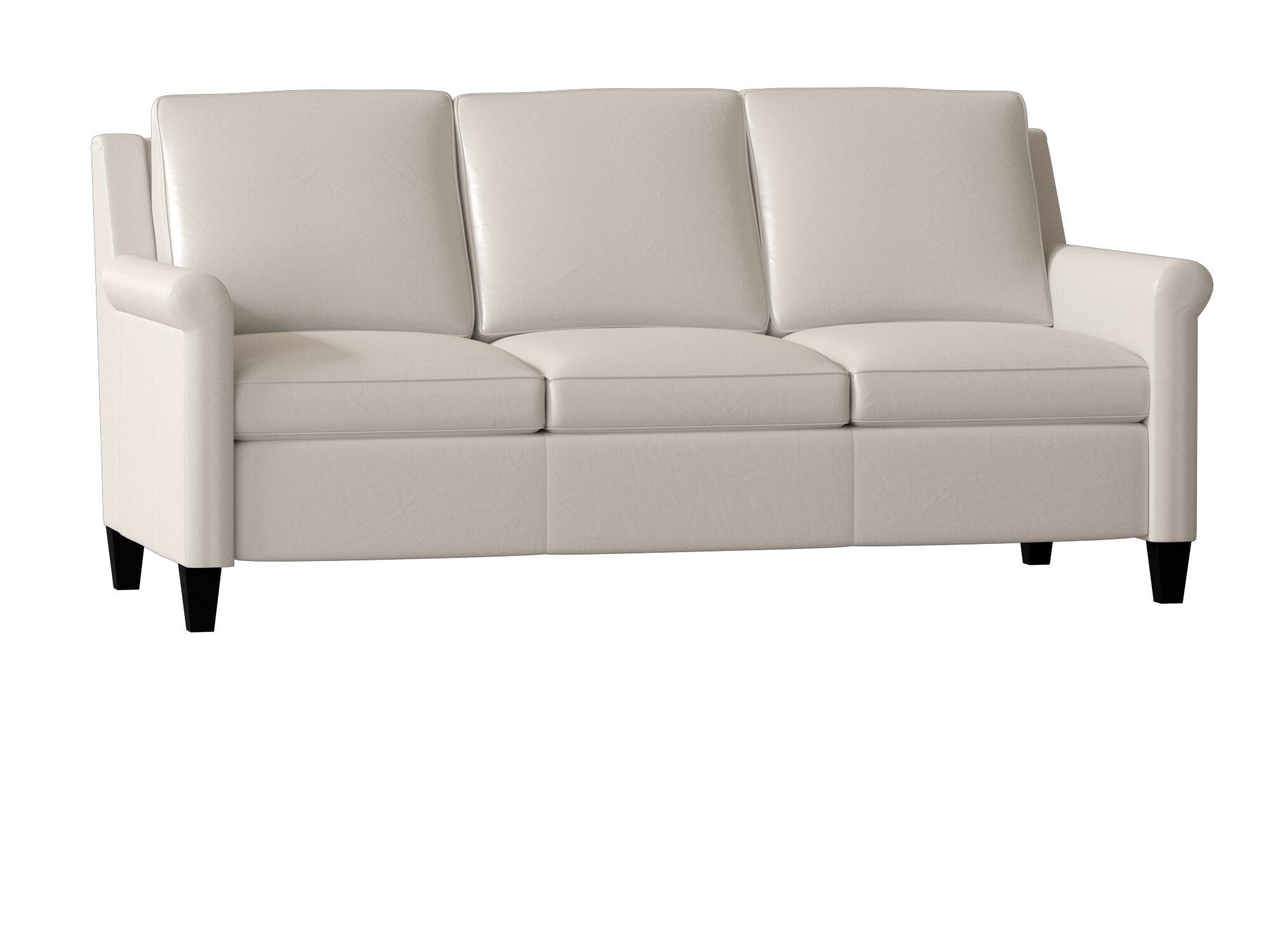 Bradington Young Timber Leather Sofa