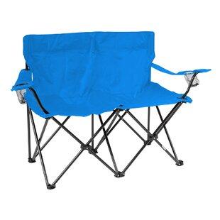 Trademark Innovations Loveseat Folding Camping Chair