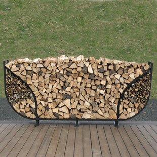 8' Double Leaf Firewood Log Rack With Kindling Kit By ShelterIt