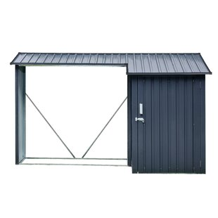 9 Ft. X 4 Ft. Metal Log Store By Hanover