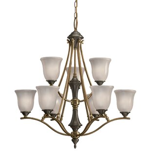 Joanie 9-Light Shaded Chandelier by Charlton Home