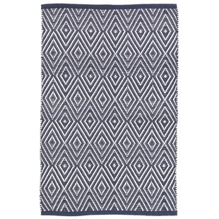 Diamond Navy Blue Indoor/Outdoor Area Rug