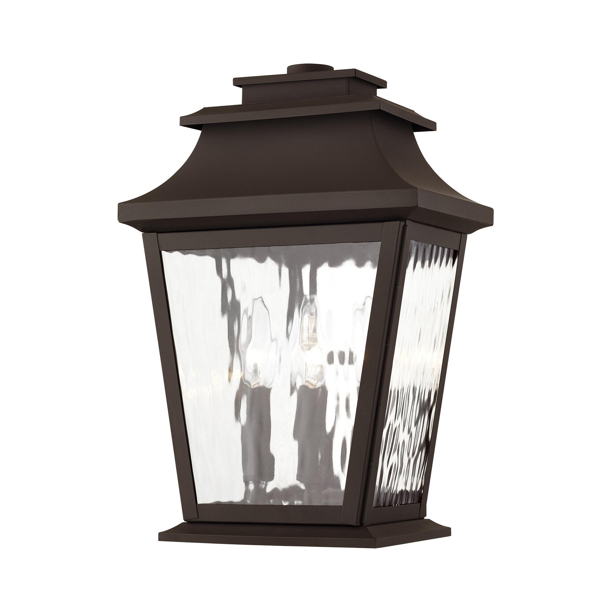 Darby Home Co Campfield 3 Bulb 15 H Outdoor Wall Lantern Wayfair